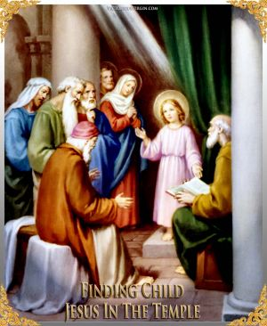 006 How To Pray The Rosary 5th JOYFUL Mystery - FINDING CHILD JESUS IN TEMPLE